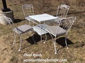 Sản xuất các loại bàn ghế sắt hoa văn cafe sân vườn